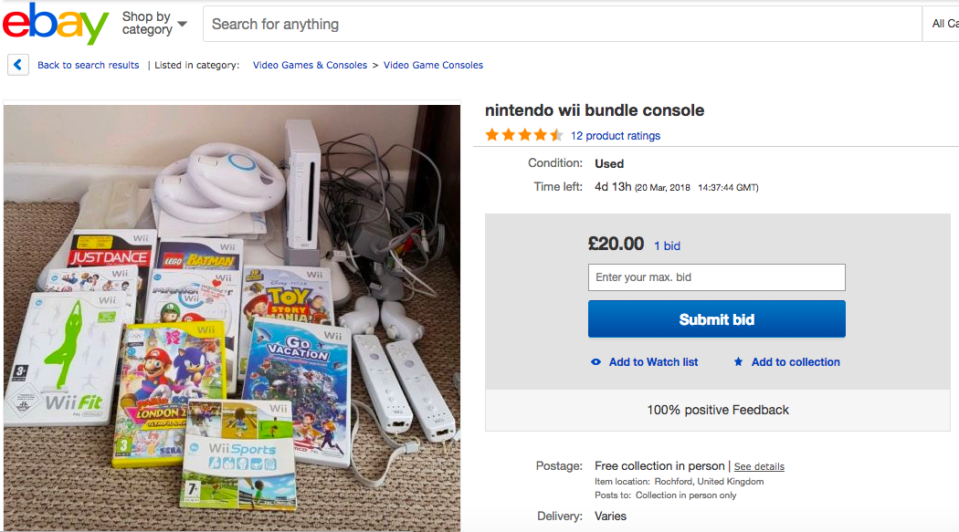 Reselling Video Game